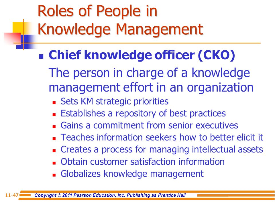 Roles of People in Knowledge Management
