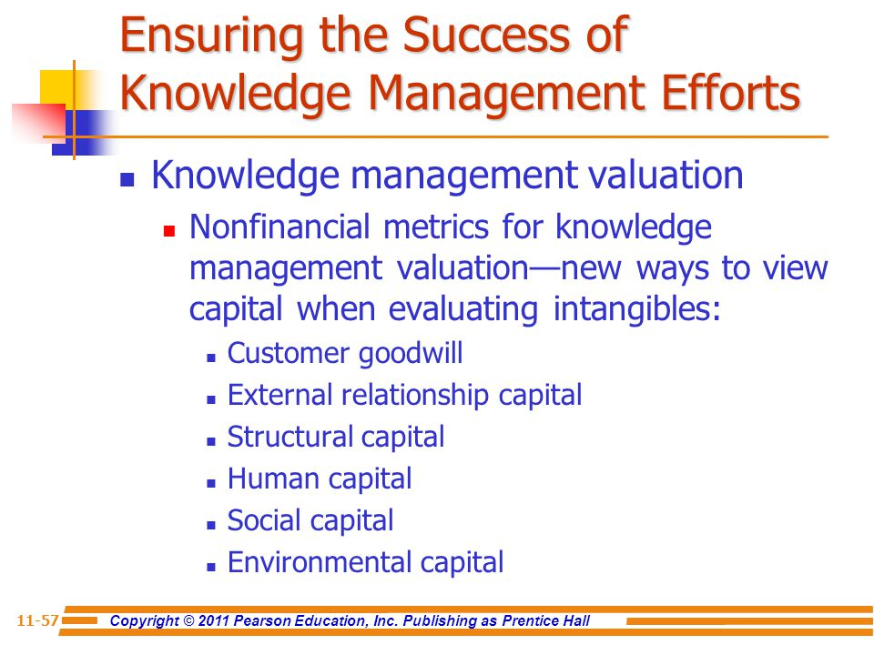 Ensuring the Success of Knowledge Management Efforts