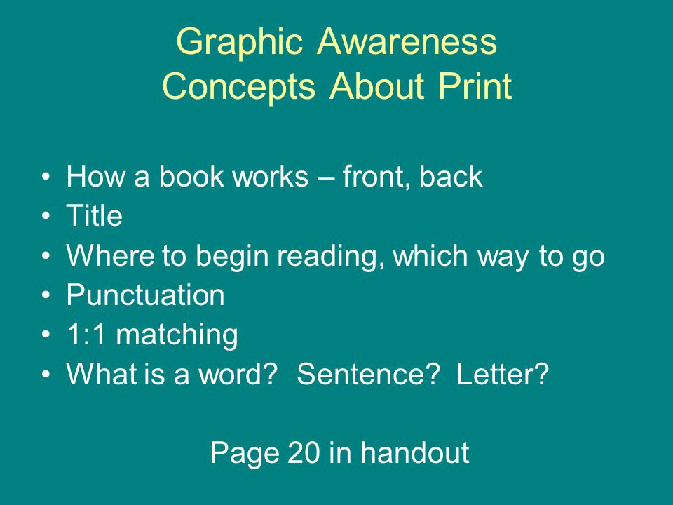 Graphic Awareness Concepts About Print