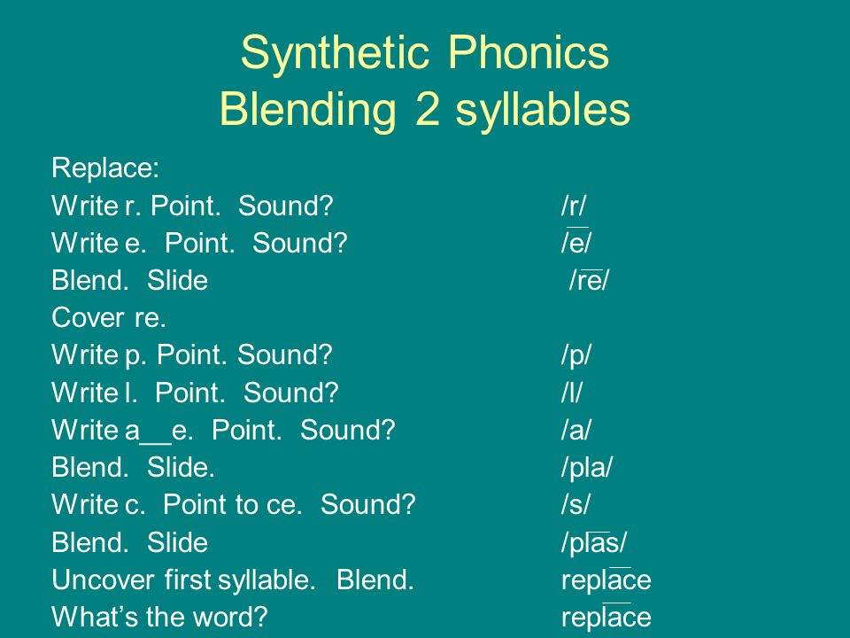 Synthetic Phonics Blending 2 syllables