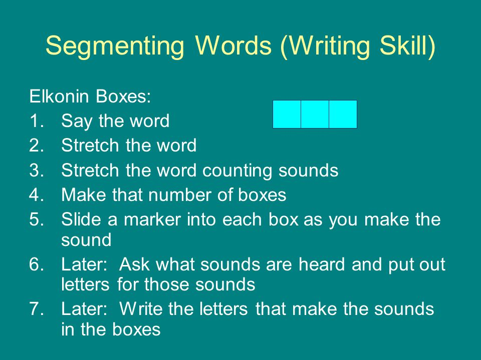 Segmenting Words (Writing Skill)