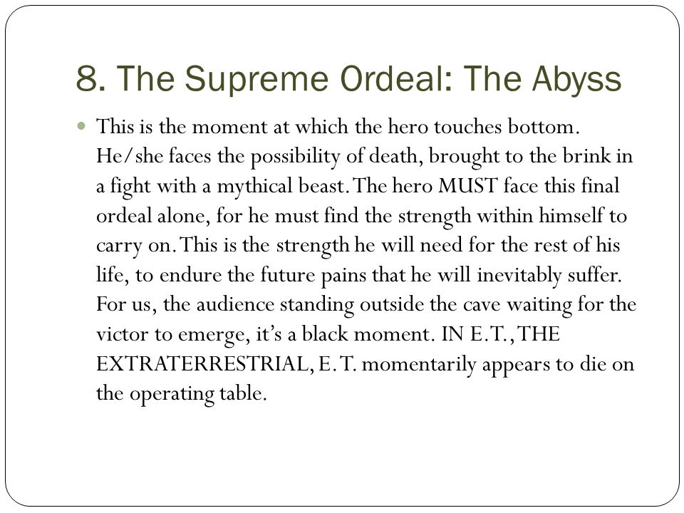 8. The Supreme Ordeal: The Abyss