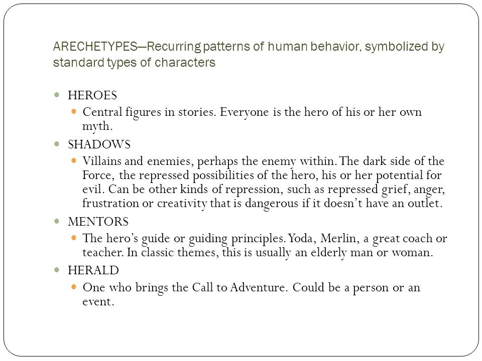 One who brings the Call to Adventure. Could be a person or an event.