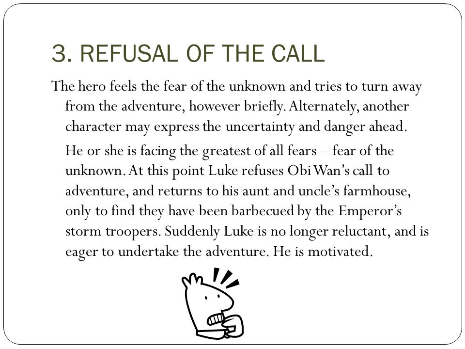 3. REFUSAL OF THE CALL