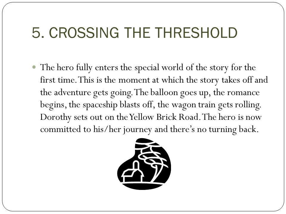 5. CROSSING THE THRESHOLD