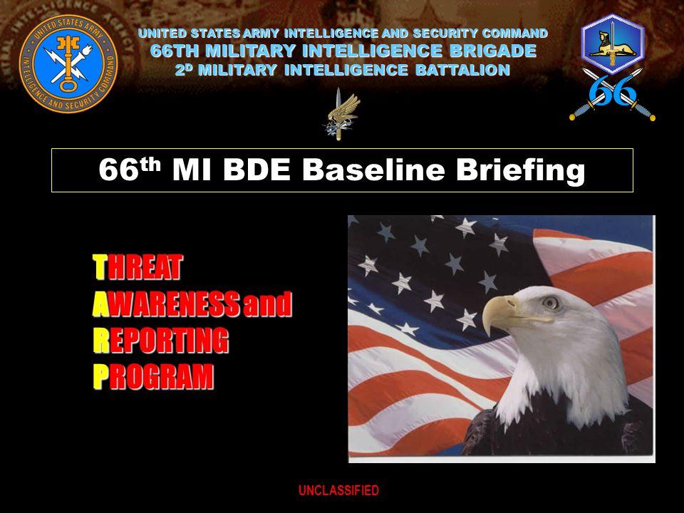 66th MI BDE Baseline Briefing