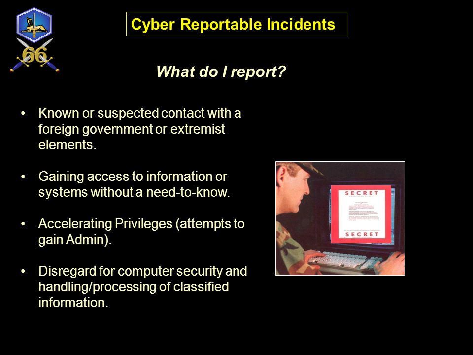 Cyber Reportable Incidents