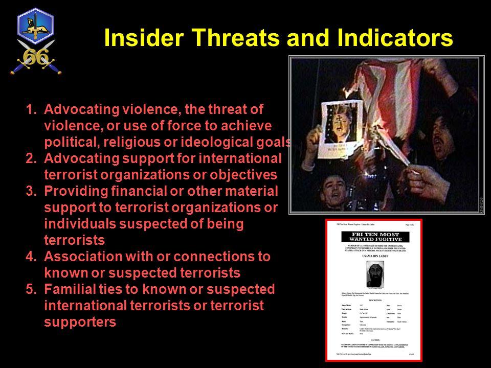 Insider Threats and Indicators