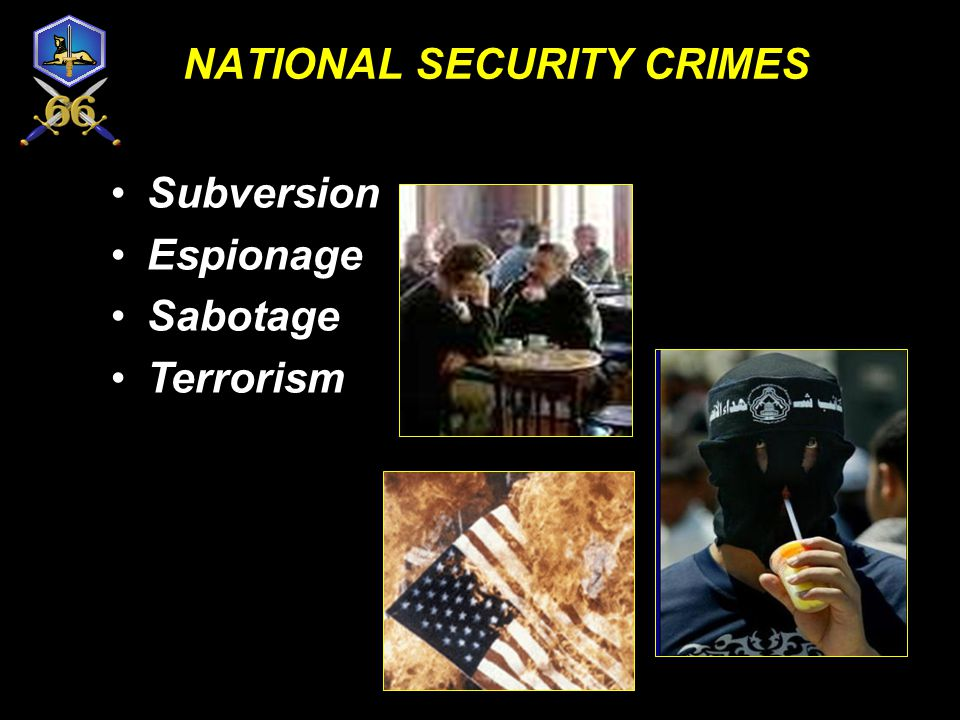 NATIONAL SECURITY CRIMES