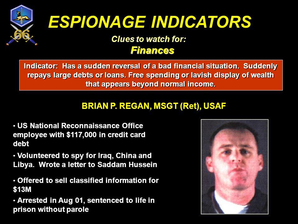 BRIAN P. REGAN, MSGT (Ret), USAF