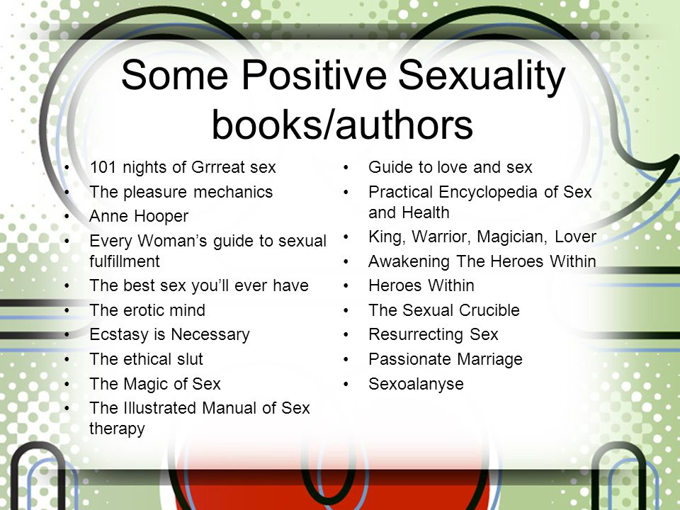 Some Positive Sexuality books/authors