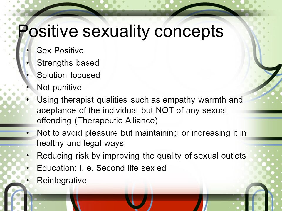 Positive sexuality concepts