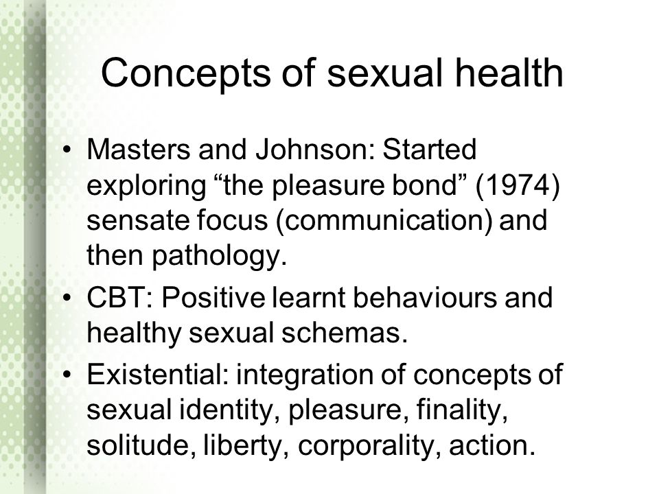 Concepts of sexual health