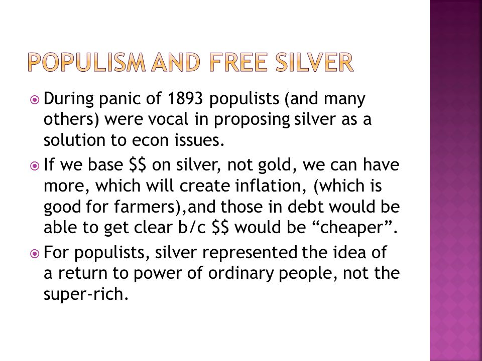 Populism and Free silver