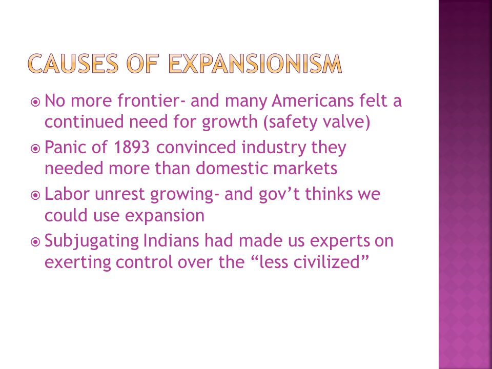 Causes of Expansionism