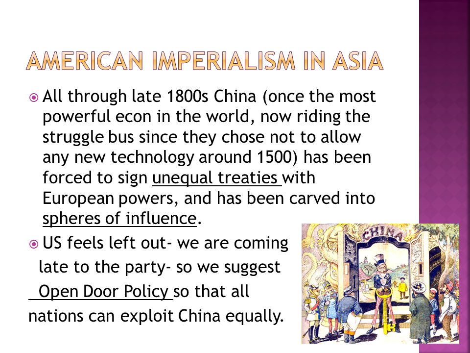 American Imperialism in Asia