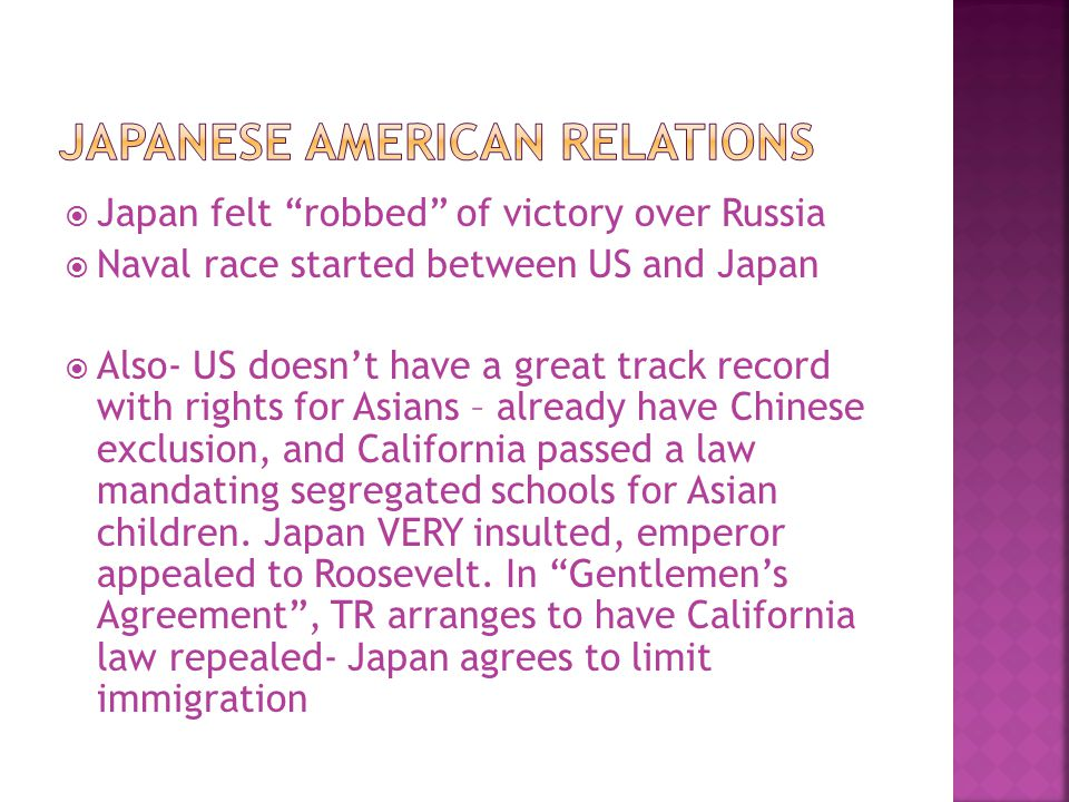 Japanese American RElations
