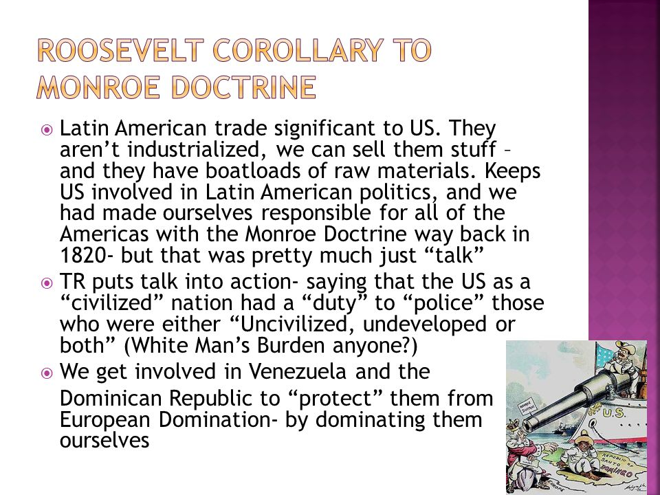 Roosevelt Corollary to Monroe Doctrine