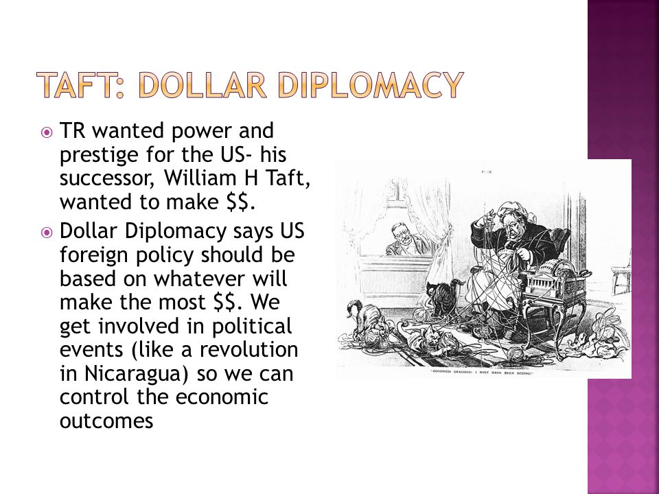 Taft: Dollar Diplomacy