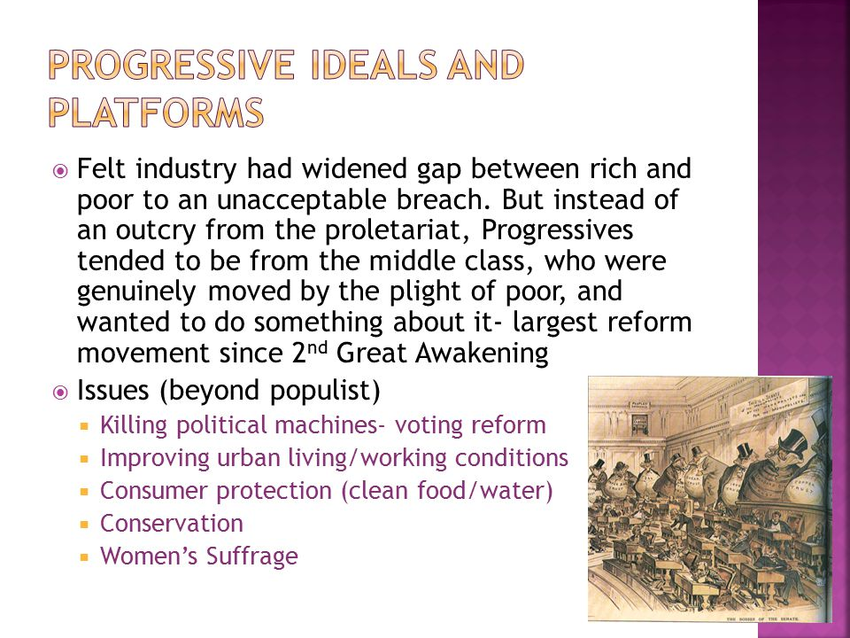 Progressive ideals and platforms