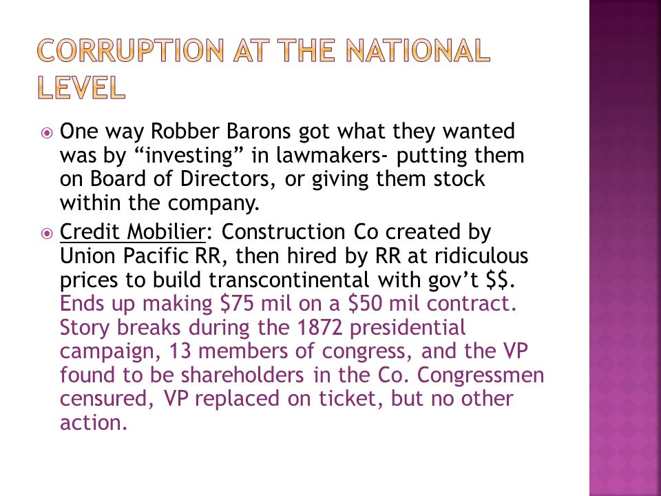 Corruption at the National Level