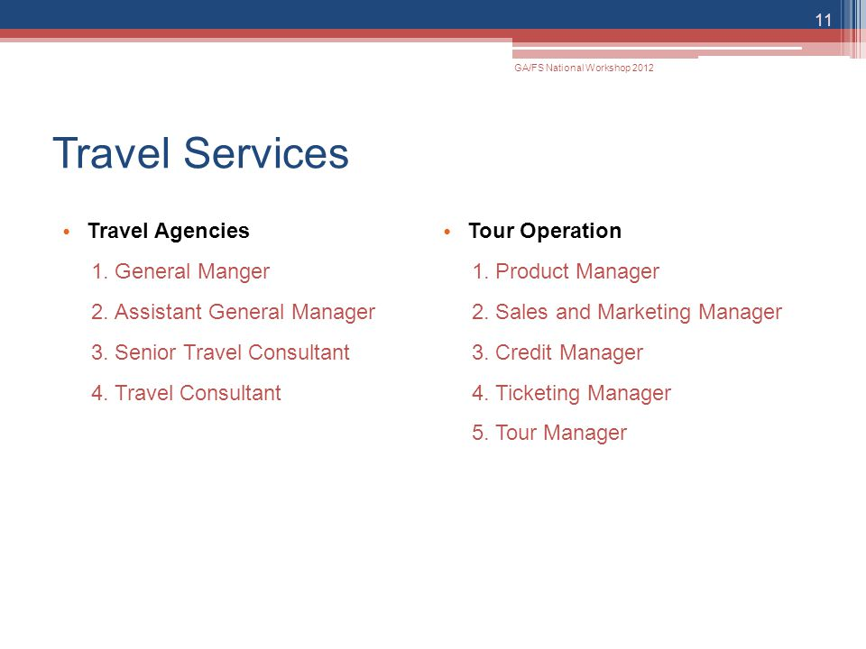 Travel Services Travel Agencies Tour Operation General Manger
