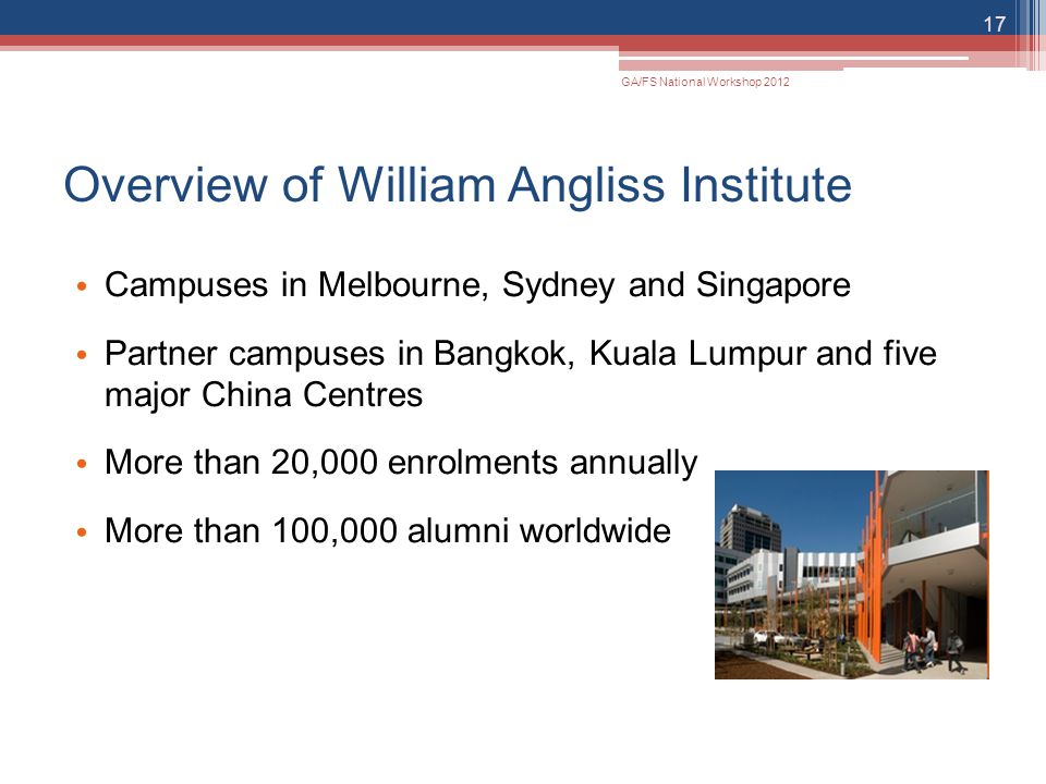 Overview of William Angliss Institute