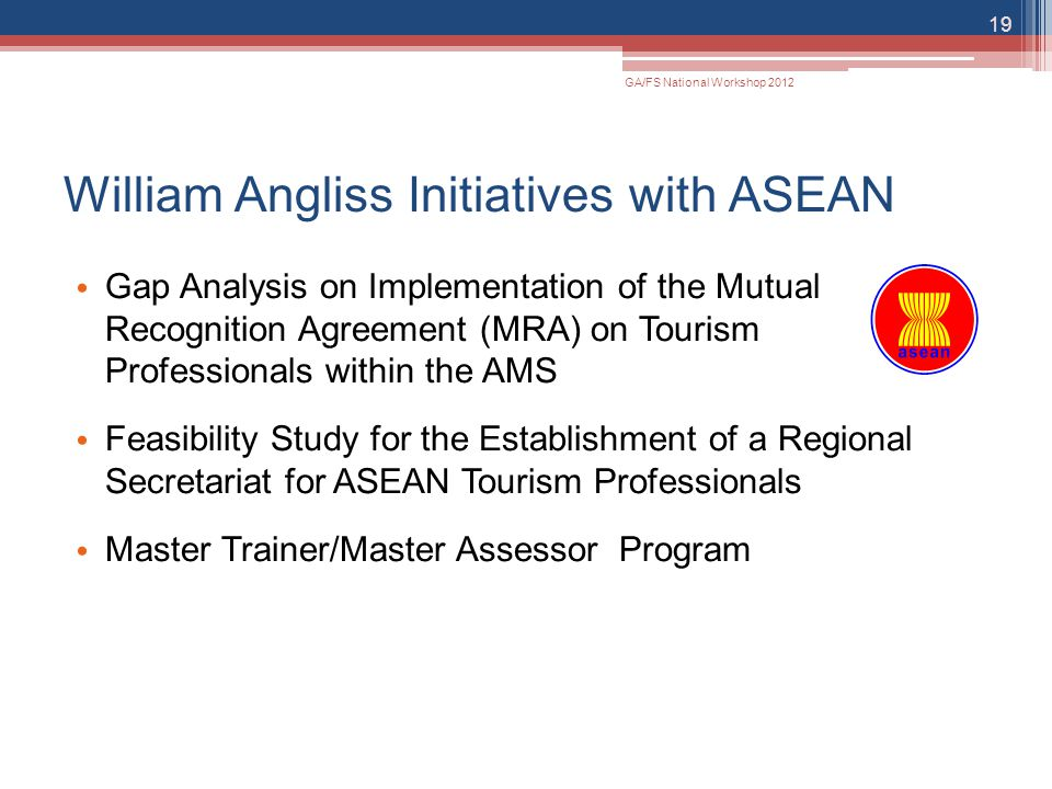 William Angliss Initiatives with ASEAN