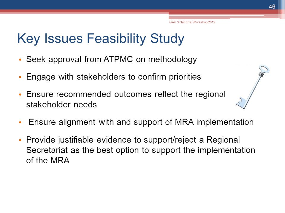 Key Issues Feasibility Study