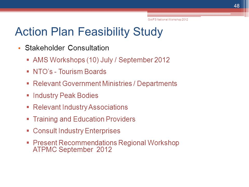 Action Plan Feasibility Study