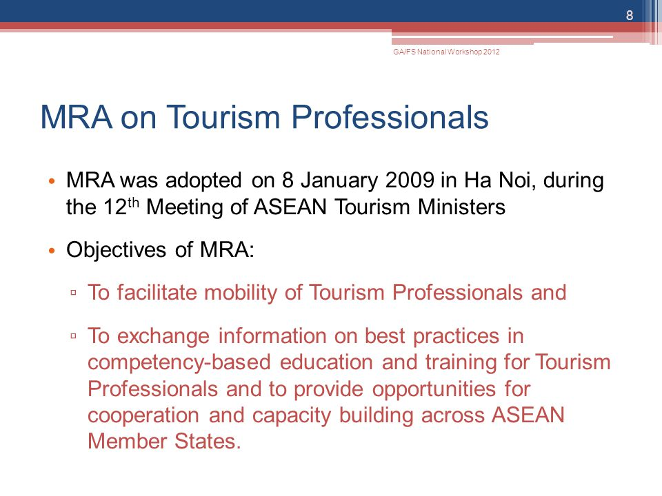 MRA on Tourism Professionals