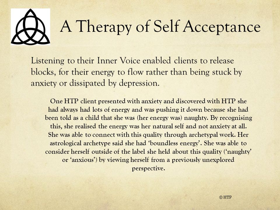 A Therapy of Self Acceptance