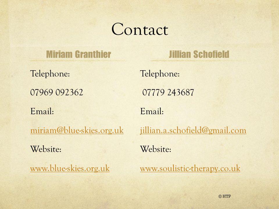 Contact Miriam Granthier Jillian Schofield Telephone: 07969 092362