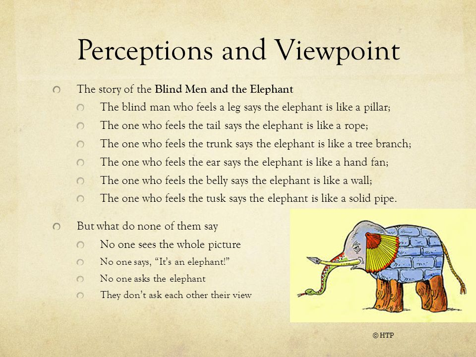 Perceptions and Viewpoint