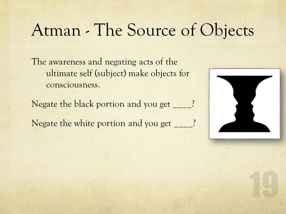 Atman - The Source of Objects