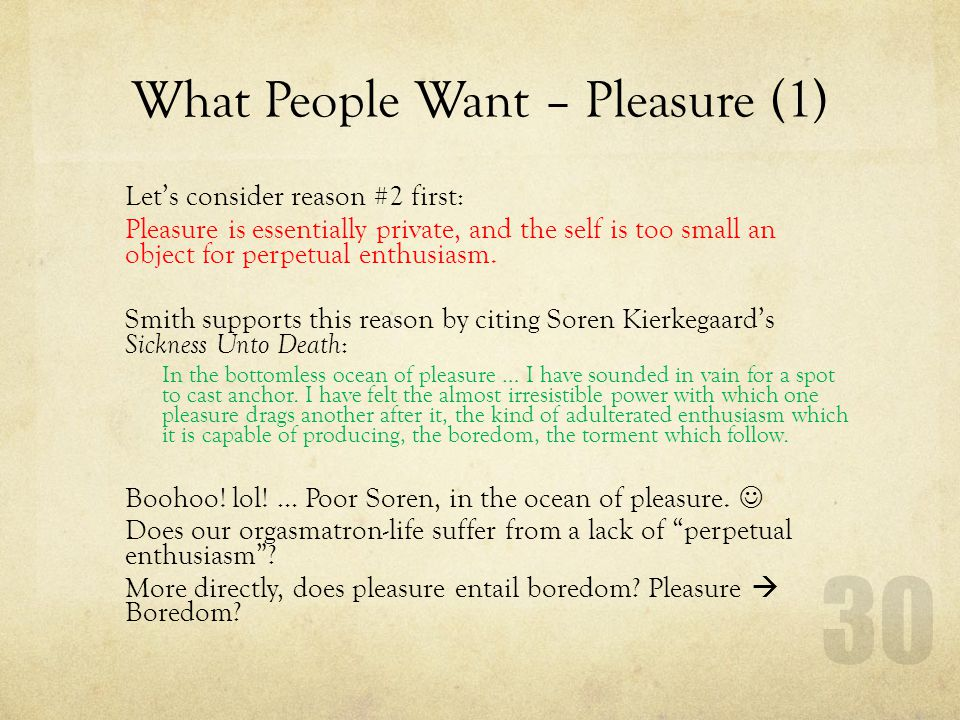 What People Want – Pleasure (1)