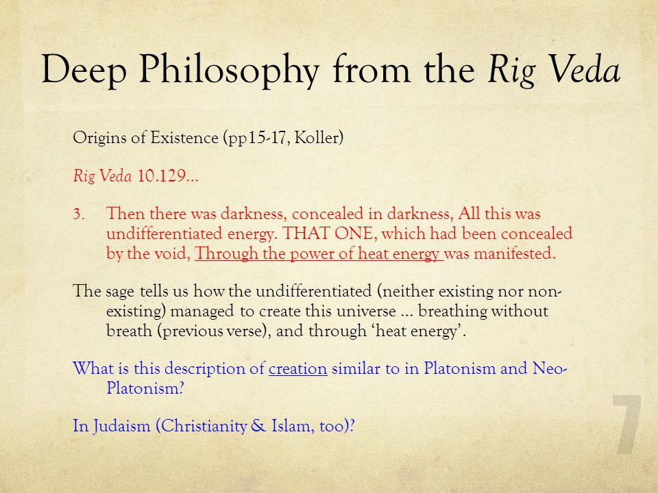 Deep Philosophy from the Rig Veda