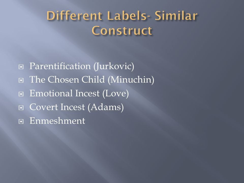 Different Labels- Similar Construct