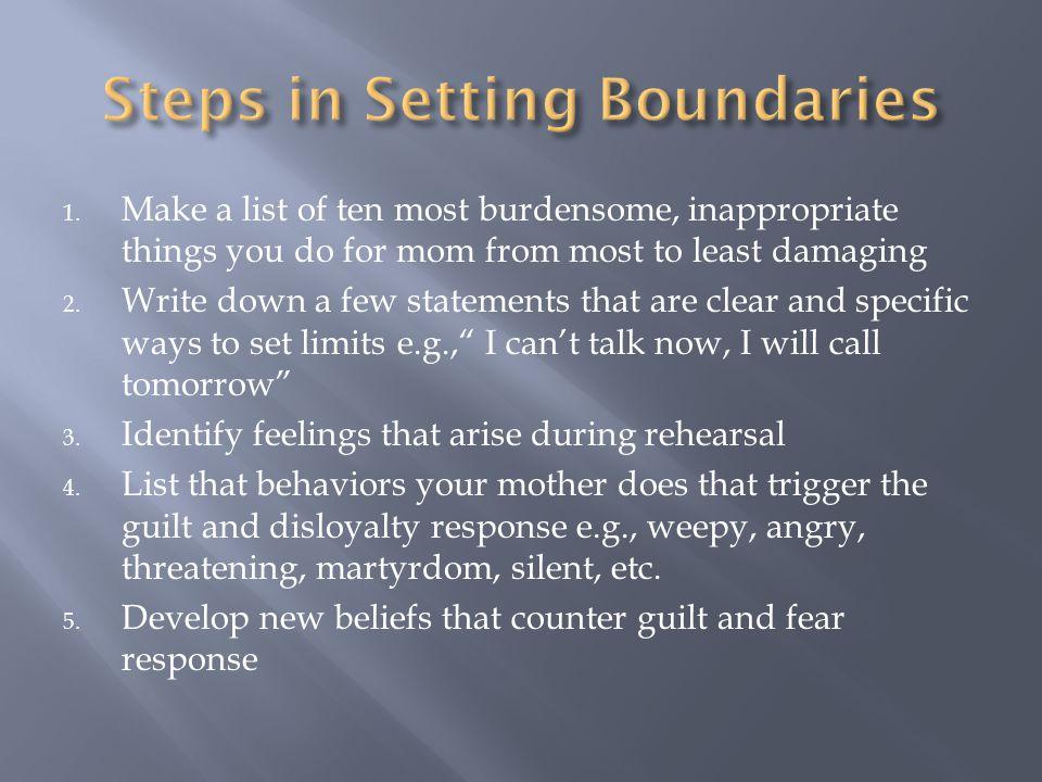 Steps in Setting Boundaries