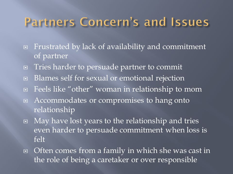Partners Concern's and Issues