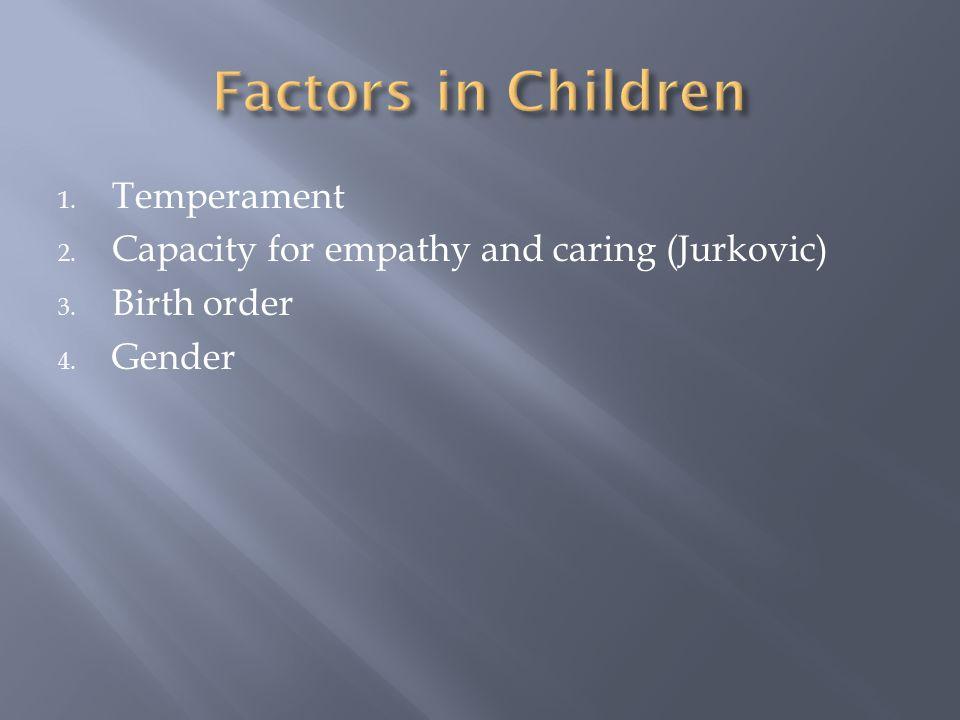 Factors in Children Temperament