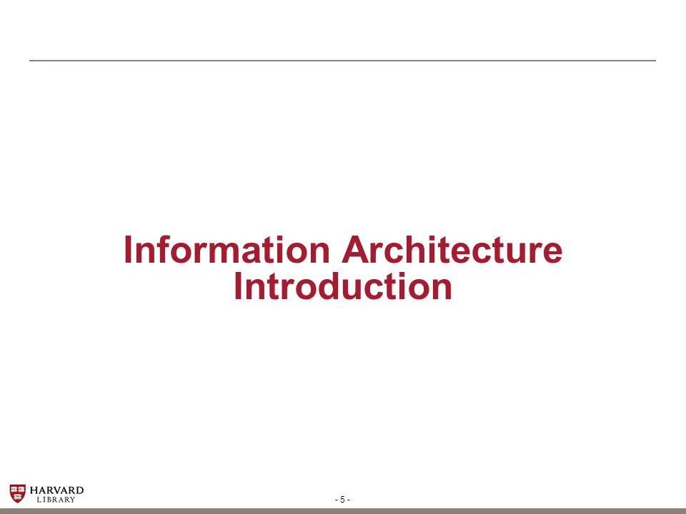 Information Architecture Introduction