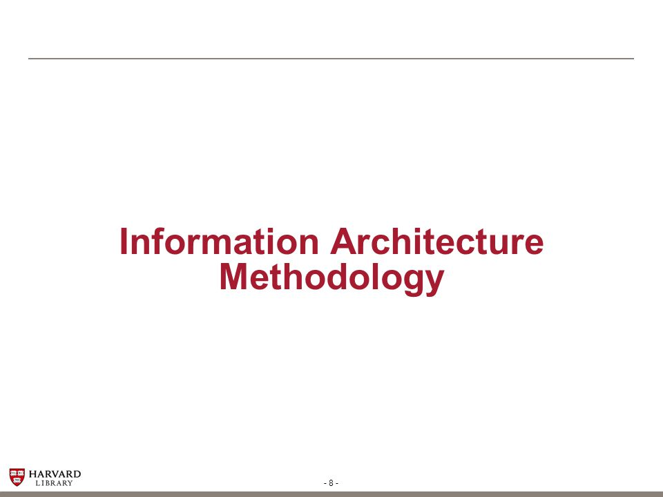 Information Architecture Methodology