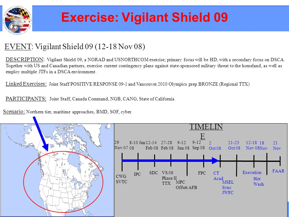 Exercise: Vigilant Shield 09