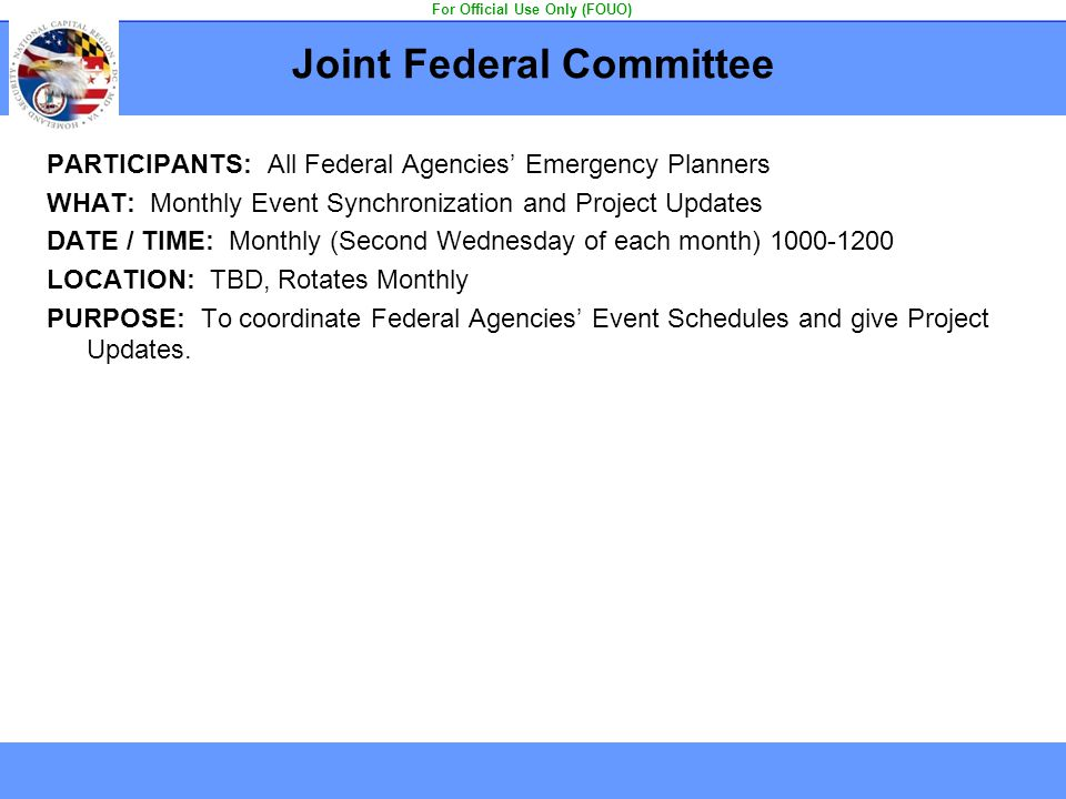 Joint Federal Committee