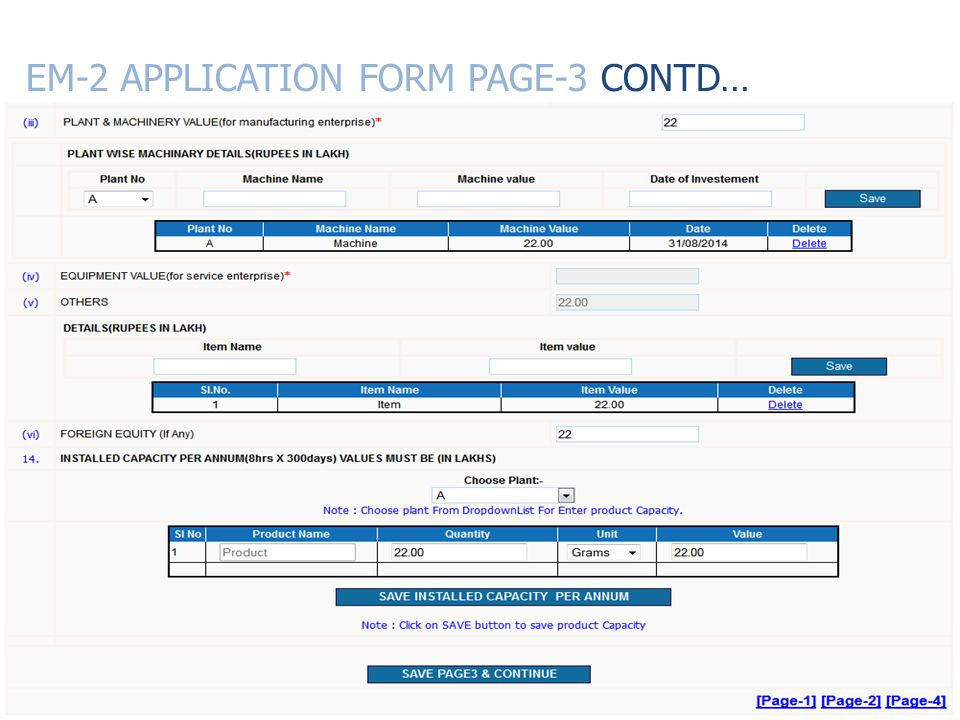EM-2 APPLICATION FORM PAGE-3 CONTD…