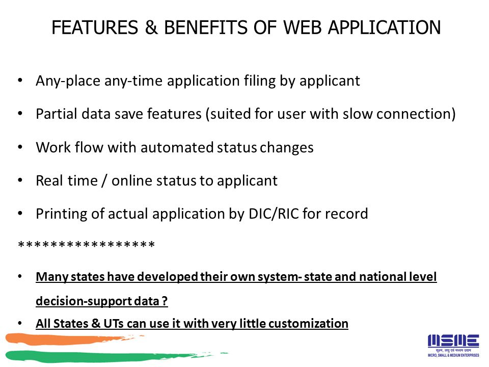 FEATURES & BENEFITS OF WEB APPLICATION