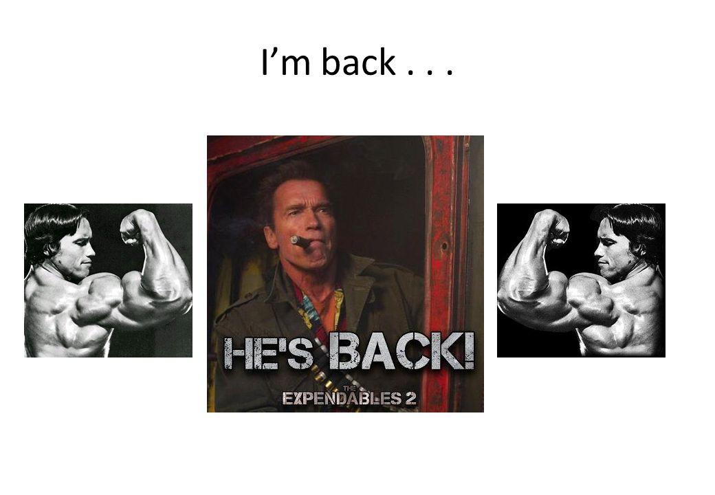 I'm back . . .