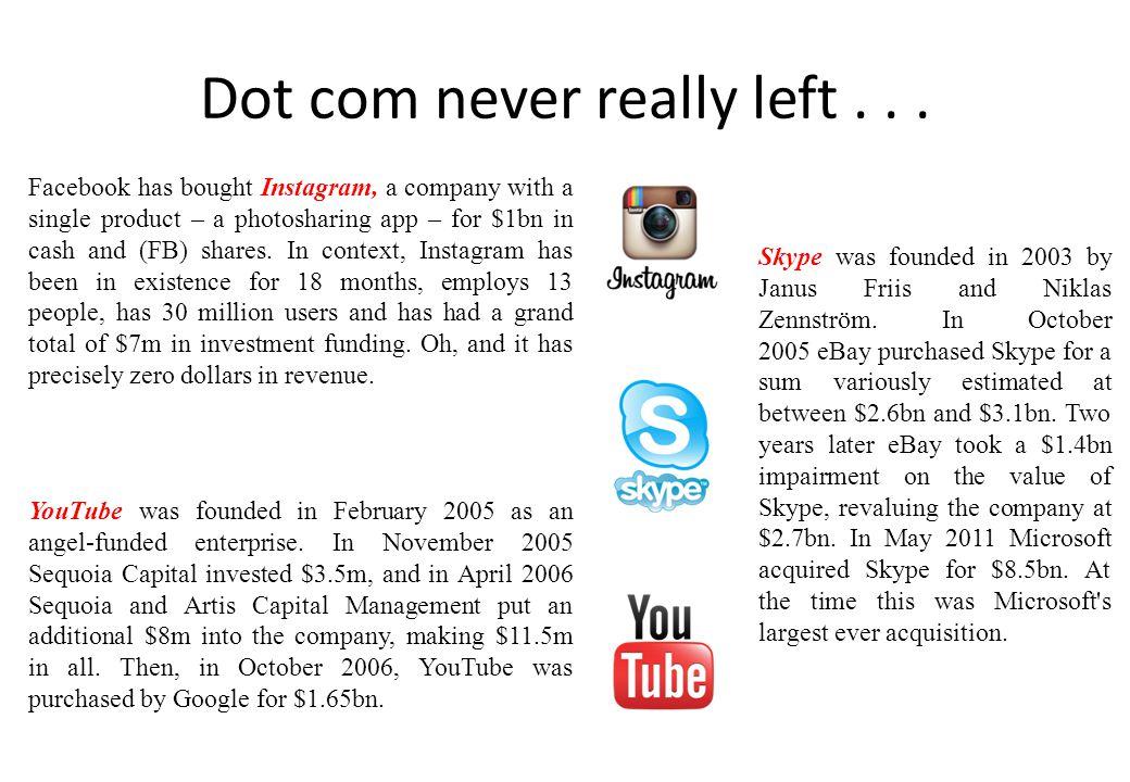 Dot com never really left . . .