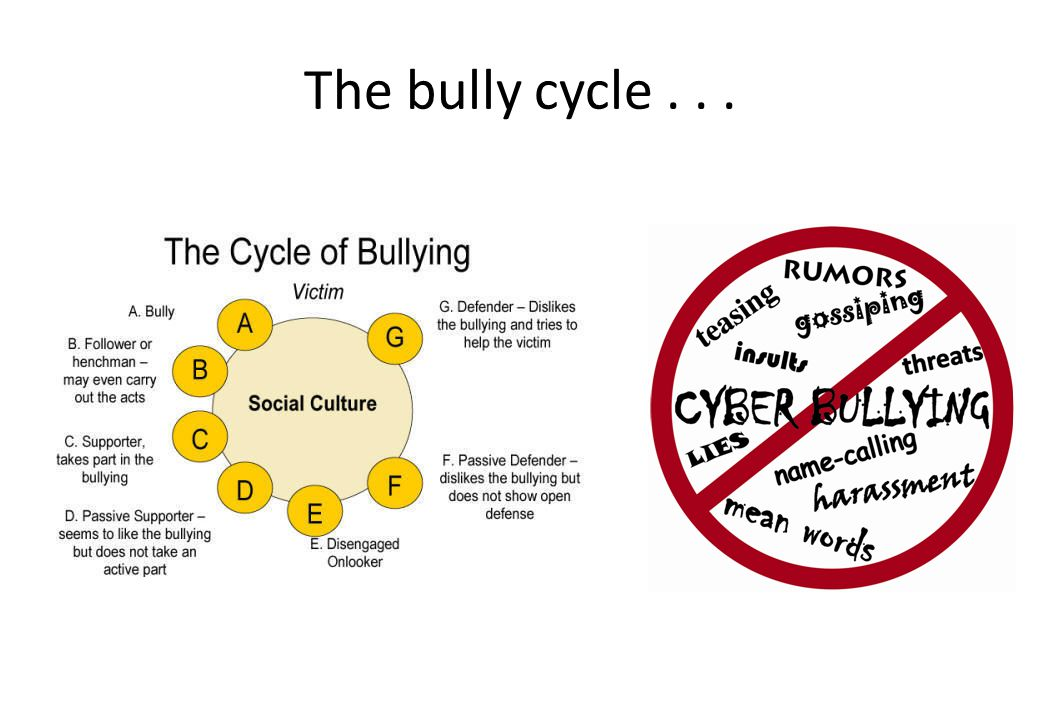 The bully cycle . . .